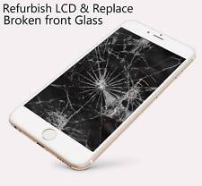 iPhone 6 plus cracked broken LCD glass screen refurbish service