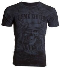 Xtreme Couture Affliction Men S/S Blk T-Shirt DEAD OR ALIVE Skull Guns S-3XL $40