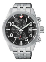 Citizen Quartz Men's Black Multi Dial Calendar Bracelet 43mm Watch AN3620-51E