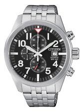 Citizen Quartz Men's Black Multi Dial Calendar Bracelet 43mm Watch AN3620-51E