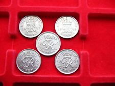 SUPERB DATED RUN OF KING GEORGE VI SIXPENCES 1947- 1951 IN NEAR MINT CONDITION