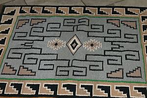 Vintage Native American Navajo Rug Saddle Blanket Southwest Weaving #1