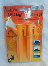 Pack of Two LED Light Tent Pegs - FInd Your Tent in the Dark - Anti Trip Devices