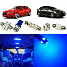 8x Blue LED lights interior package kit for 2014 & Up Mazda 3 Mazda3 MT1B