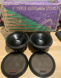 "Old School Car Audio! Rockford Fosgate Rfa-64. 6"",4 Ohm Drivers,vintage sq,rare!"
