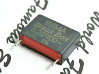 1pcs - WIMA Black Box 0.22uF (220nF) 400V 5% pitch:22.5mm Capacitor NOS Genuine