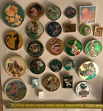 L@@K: Lot of 26 Soviet USSR CCCP Children's Pins Russian Cartoon Characters