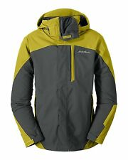 * Eddie Bauer Men's Powder Search 3-In-1 Jacket Med Reed Yellow NWT