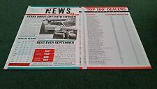 Octobre 1987 CITROEN UK News concessionnaire seulement-AX BX CX TOP 100 concessionnaires-Brochure