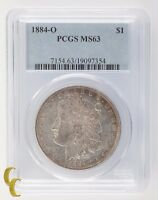 1884-O Silver Morgan Dollar $1 PCGS Graded MS 63