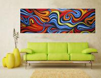 abstract original Art oil Painting Australia canvas signed canvas  aboriginal