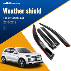 4pcs Weather Shield Weathershields for Mitsubishi ASX 2010-2019 Window Visors
