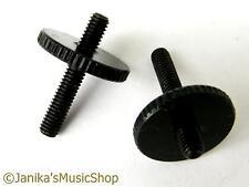 2 black height adjusting thumb wheels posts guitar bridge screws tune o matic