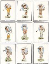 GOLFING GREATS(20) G.B. & T.W. CARDS- JONES,HAGEN, VARDON, ARMOUR, LITTLE, ,ETC
