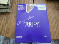 Sears Cling-Alon Thi-Top stockings set of 2 pairs Sandstone