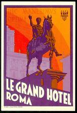Luggage Label Le Grand Hotel Roma hic manebimus optime.