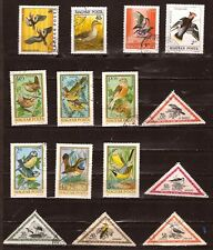 PR58 HONGRIE  15 timbres oblitérés : Les oiseaux divers