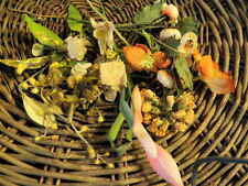 Vintage Millinery Flower Ivory Yellow Hat Trim Wholesale Lot Bespoke Wedding H4