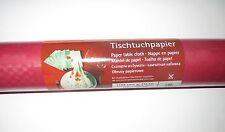 Rotolo 2 1mx10m Carta Tovaglia Panno Tabella Rosso Scuro Compleanno Decorazione