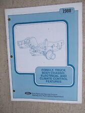 1988 Ford Light Truck Body Chassis Electrical Climate Control Features Manual  R