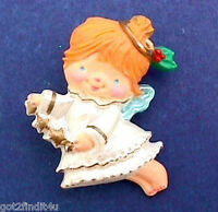 Hallmark PIN Christmas Vintage ANGEL KATYBETH Star Garland Holiday Brooch