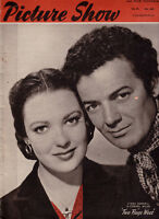 Picture Show Magazine Linda Darnell & Cornel Wilde in Two Flags West