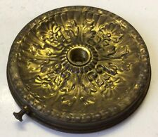 New listing Antique ornate brass 3 1/4� fitter hanging oil lamp font drip pan