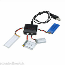 4 in1 USB Battery Charger For Hubsan, WLtoys, MJX, Syma X5C X5SW X5SC - UK Stock