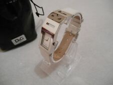 """Montre Femme Dolce & Gabbana D&G Ladies Watch """"Shout"""" DW0508 Bracelet Cuir Blanc"""