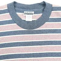 Vtg 90s NOS Grunge Striped T-shirt LARGE USA Made Surf Skate Single Stitch NWOT