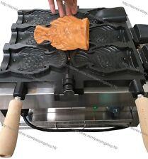 Comercial Antiadherente 110v 220v Electric 3 un. peces Waffle Helado Taiyaki fabricante