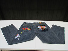 Crown Holder Mens Jeans Denim Button Fly Regius Vestio Horse Gold Stitching