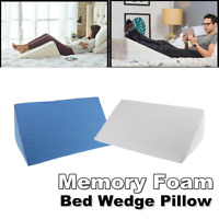 Memory Foam Bed Wedge Pillow Leg Elevation Back Lumbar Support Cushions Comfort