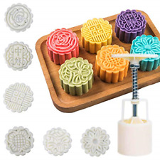 Moon Cake Mold 6 Pcs Mid Autumn Festival DIY Hand Press Cookie STAMPS Pastry 1