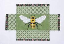 SP.ORDER ~ Bumble Bee Brick Cover Door Stop HP Needlepoint Canvas Susan Roberts