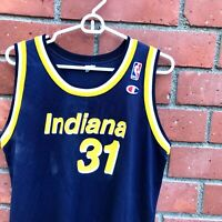 Vtg Reggie Miller Champion Indiana Pacers Home Jersey - Size XL (18-20)