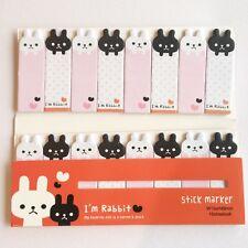 120 Sheets Cute Animal Rabbit Mini Sticky Notes Page Marker Memo Tab Sticker UK
