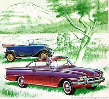 """VINTAGE 1962 ENGLISH FORD CONSUL CAPRI & 1932 FORD B in a MAGAZINE AD 10"""" X 13"""""""