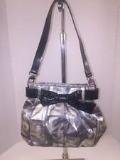 Marilyn Monroe Polyester Pleated Purse With Patent Leather Trim Evening Bag
