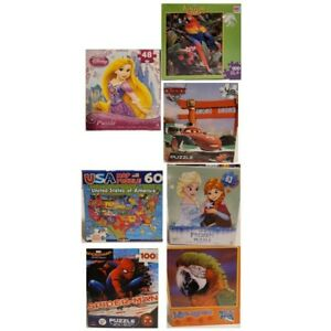 Lot Of 7 Kids & Adult Jigsaw Puzzles Memory Therapy Spacial Reasoning Puzzles