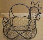 Vintage Wire Chicken Egg Basket