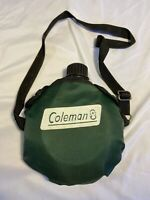Coleman Vintage Canteen Green Sleeve Plastic Camping Hiking Water Sports Surviva