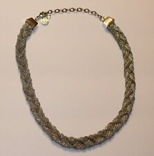 "Dana Buchman Necklace Silver Tone Braid Braided 16"" - 19"" Adjustable Classic"