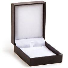 Small Jewelry Gift Box, Black Leather Necklace Gift Box, Travel Storage Jewelry