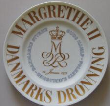 Bing and Grondahl Memorial plate, Margrethe II, January 14th, 1972