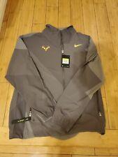 Nike Mens Rafa Nadal Court Tennis Full-Zip DriFit Jacket AJ8257 Carbon Grey Sz S