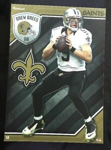 NFL Fathead Tradeables Drew Brees New Orleans Saints 2015