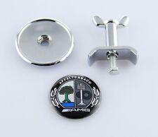 New Black Front Hood Bonnet Badge Emblem Affalterbac FOR AMG W204 W221 W220 W211