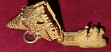 Vintage 9ct Gold Church Charm With Bride And Groom Inside