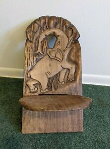 Hand Carved Tribal Wood Wooden Ethnic African Birthing Chair Elephant design